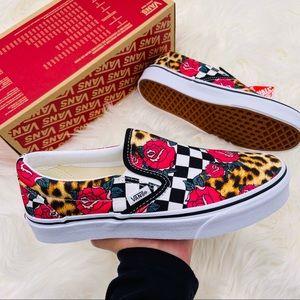 Vans Classic Slip-On Rose Checkerboard